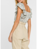 Python Sequin Baby Doll Top