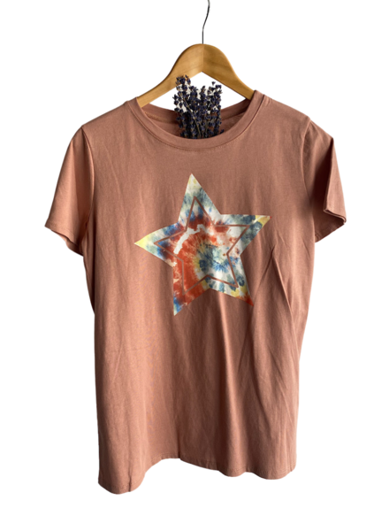 Tie Dye Star Graphic Top