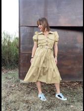 Safari Poplin Midi Dress