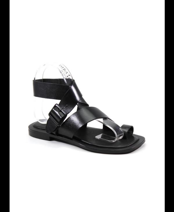 Smooth Leather Adjustable Buckle Sandal