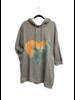 LS Terry Knit Printed Heart Dress W/Hoodie