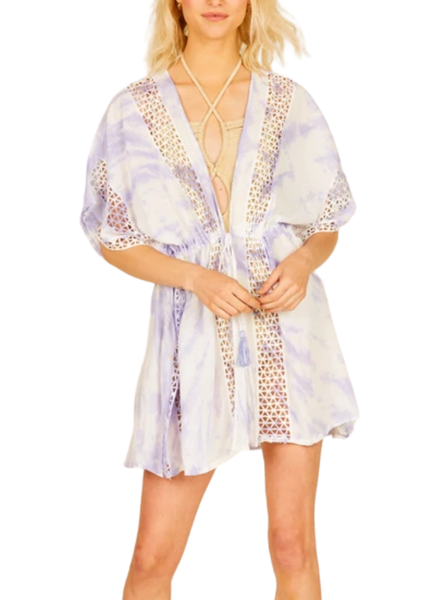 Starburst TieDye Embroidered Coverup