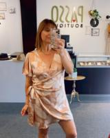 Tropical Tulip Mini Wrap Dress