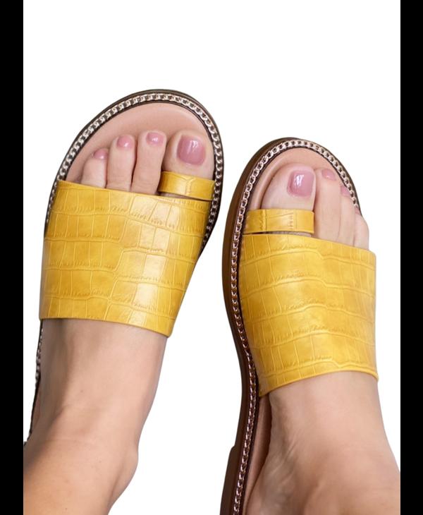 Mustard Slide On Flat