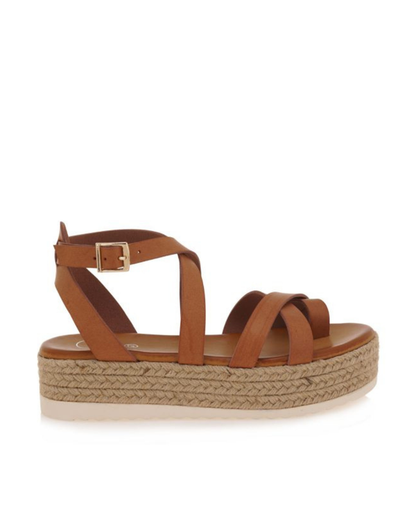Strappy Sandal Jute Platform