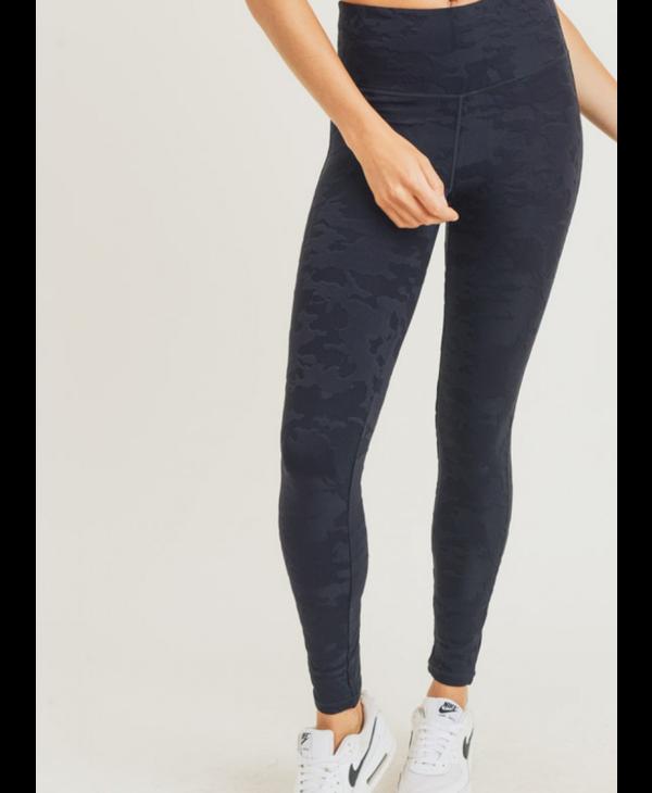 Textured Camo Activewear Highwaist Sport Leggings