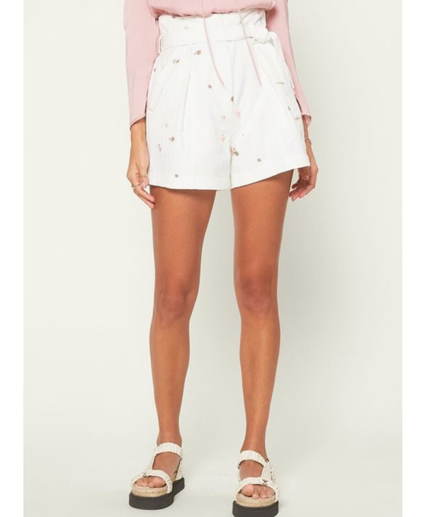 Pleated Blossom Shorts