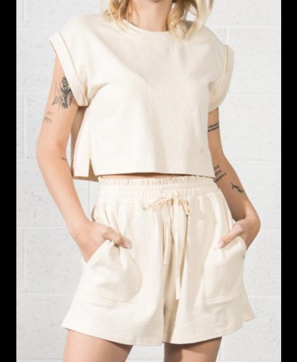 Soft Knit Crop Top & Short Set