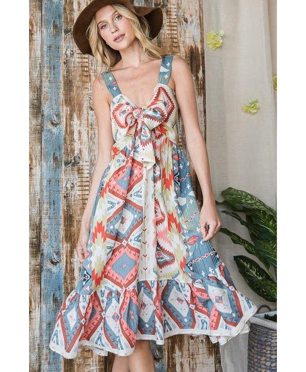 Aztec Midi Dress