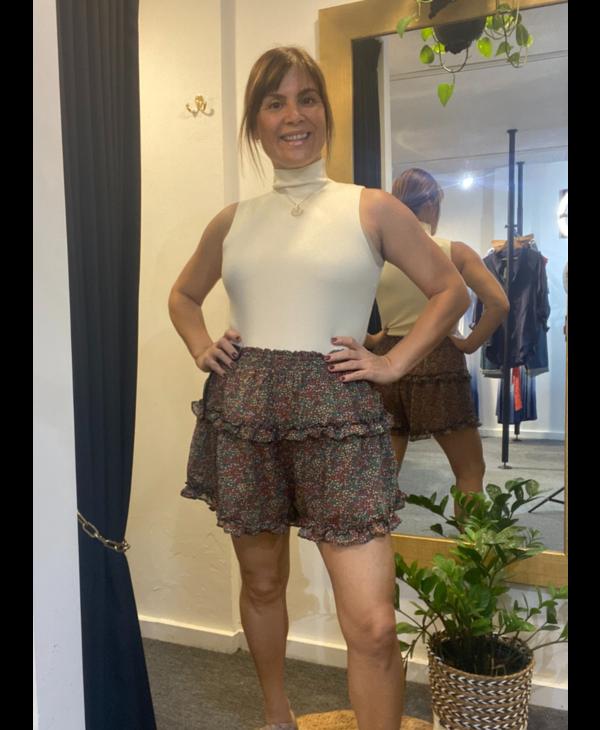Floral Ruffled Shorts