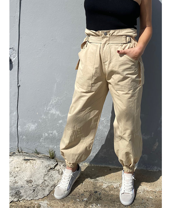 Paper Bag Slouchy Pants