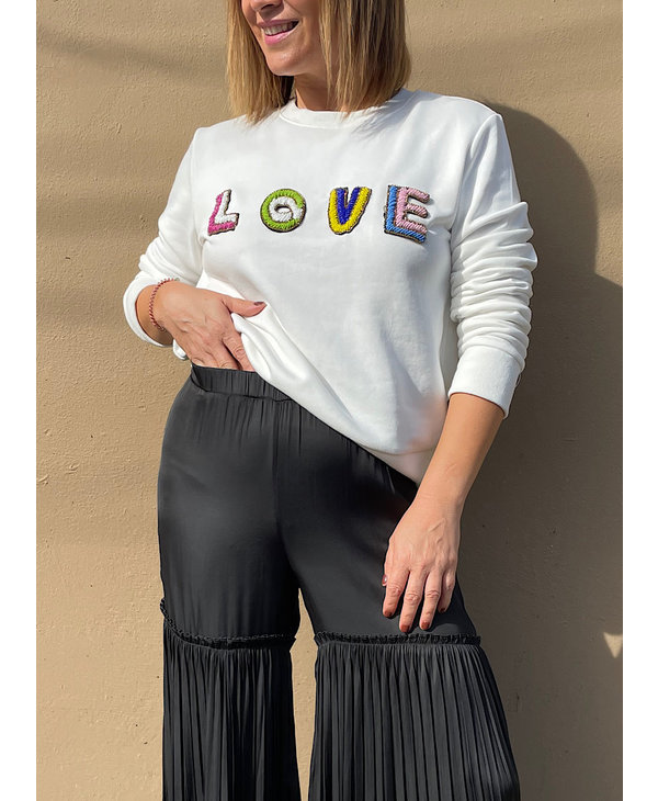 Beads Lettering Sweatshirt