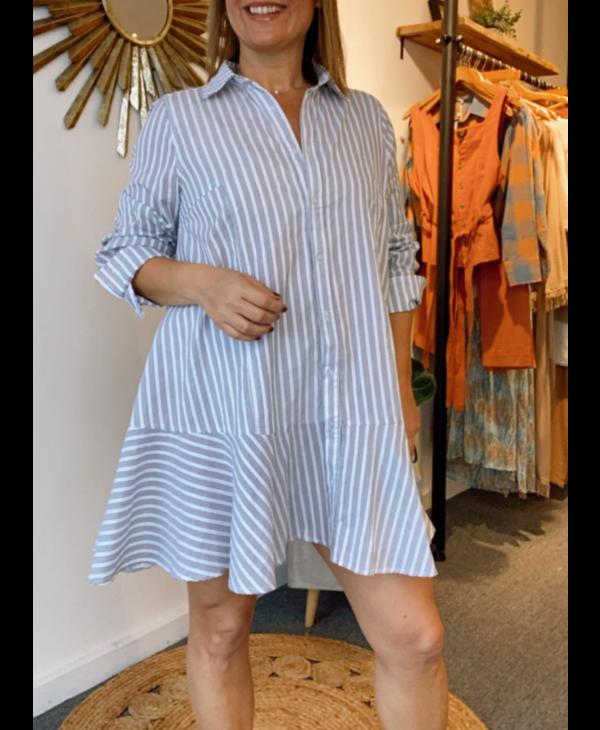 Stripe Button Up Dress