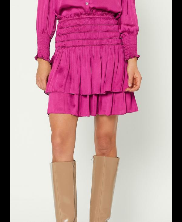 Layered Smocked Mini Skirt