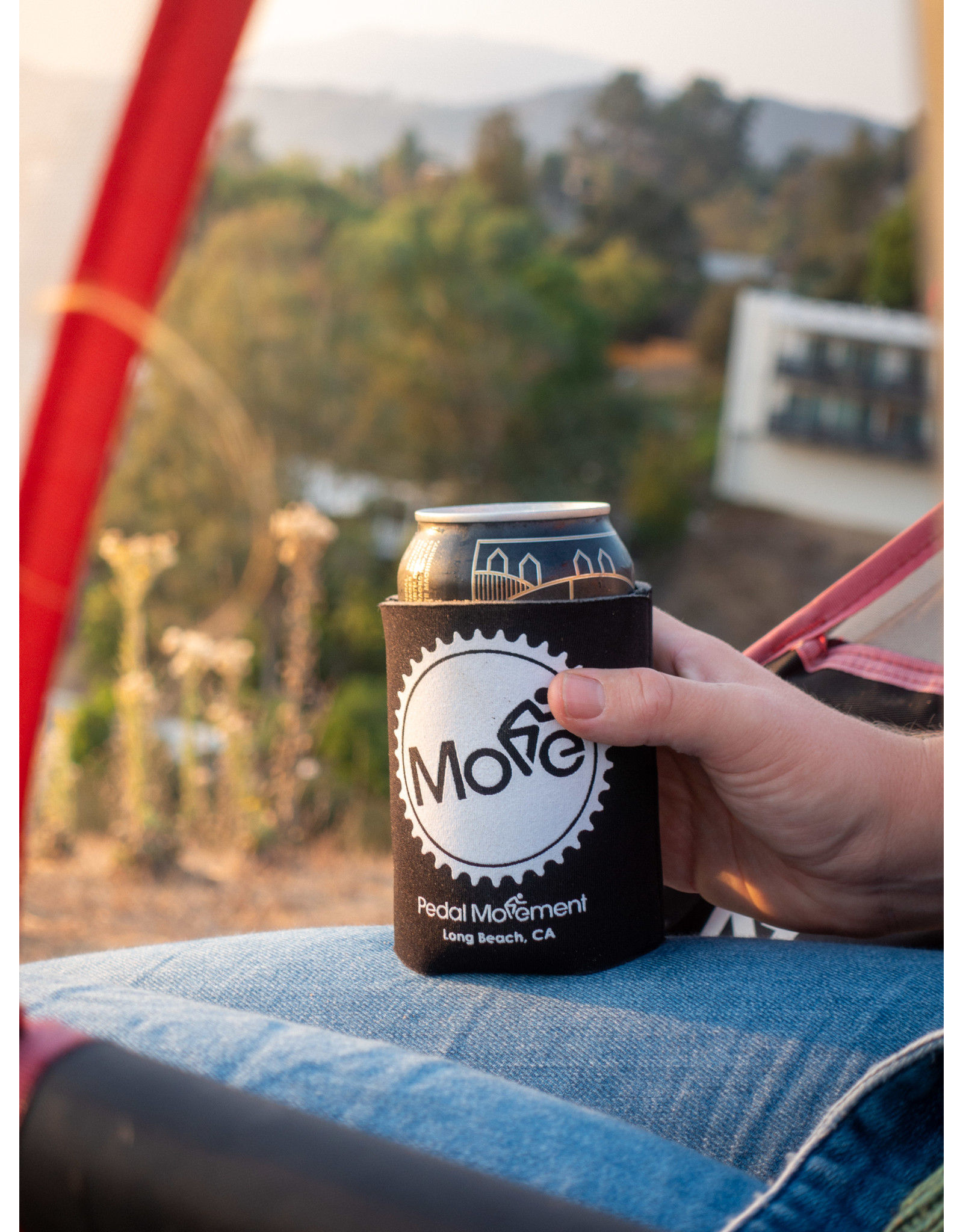 """Pedal Movement Pedal Movement """"Move"""" Koozie Can Cooler - Collapsible"""