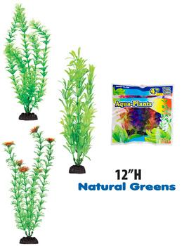 "Penn-Plax Penn-Plax Aqua-Plants 12"" Plants (6-Pack)"