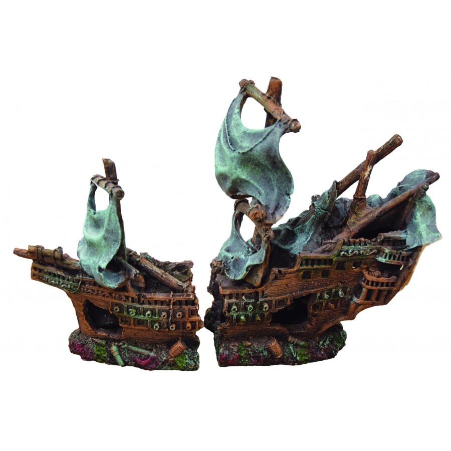 Burgham Aqua-Fit Aqua-Fit Polyresin Shipwreck