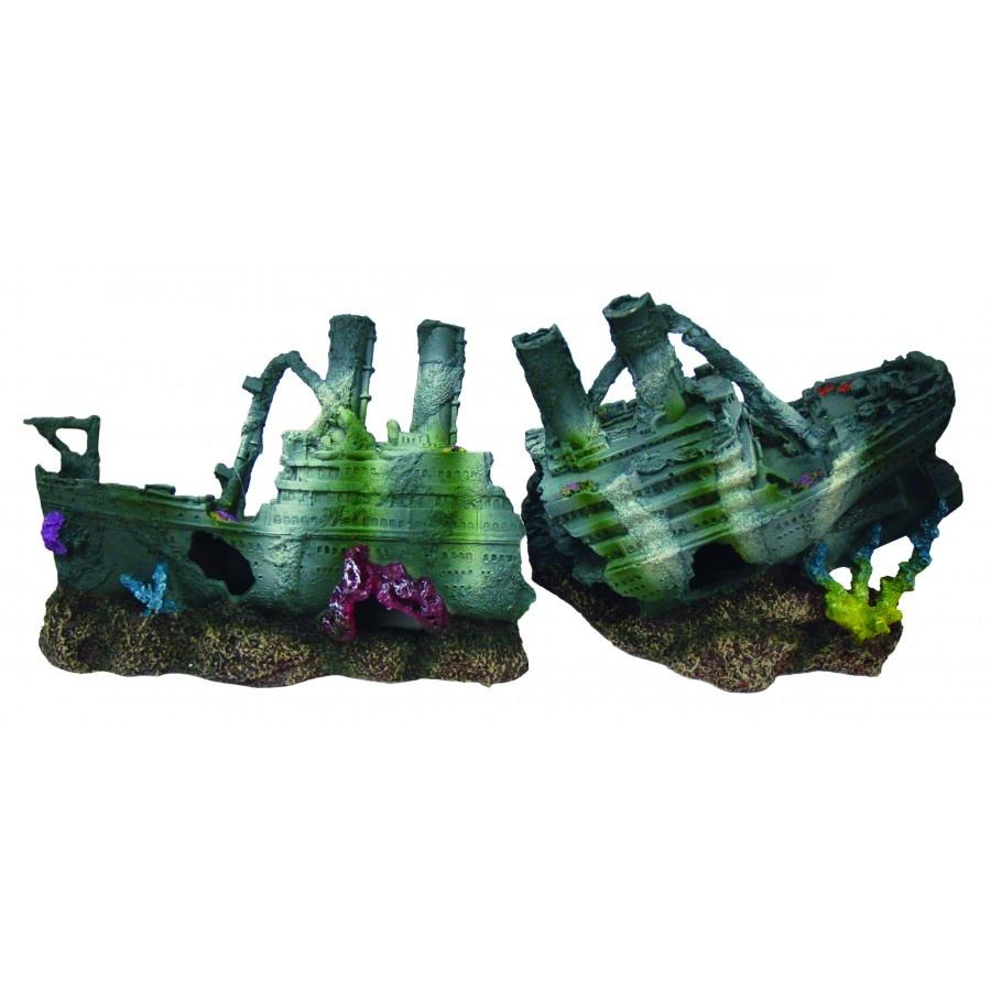 Burgham Aqua-Fit Aqua-Fit Polyresin Steamer Shipwreck