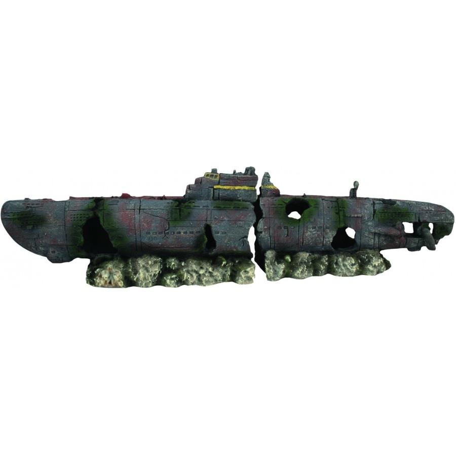 """Burgham Aqua-Fit Aqua-Fit Submarine Wreck 16x4x3"""""""