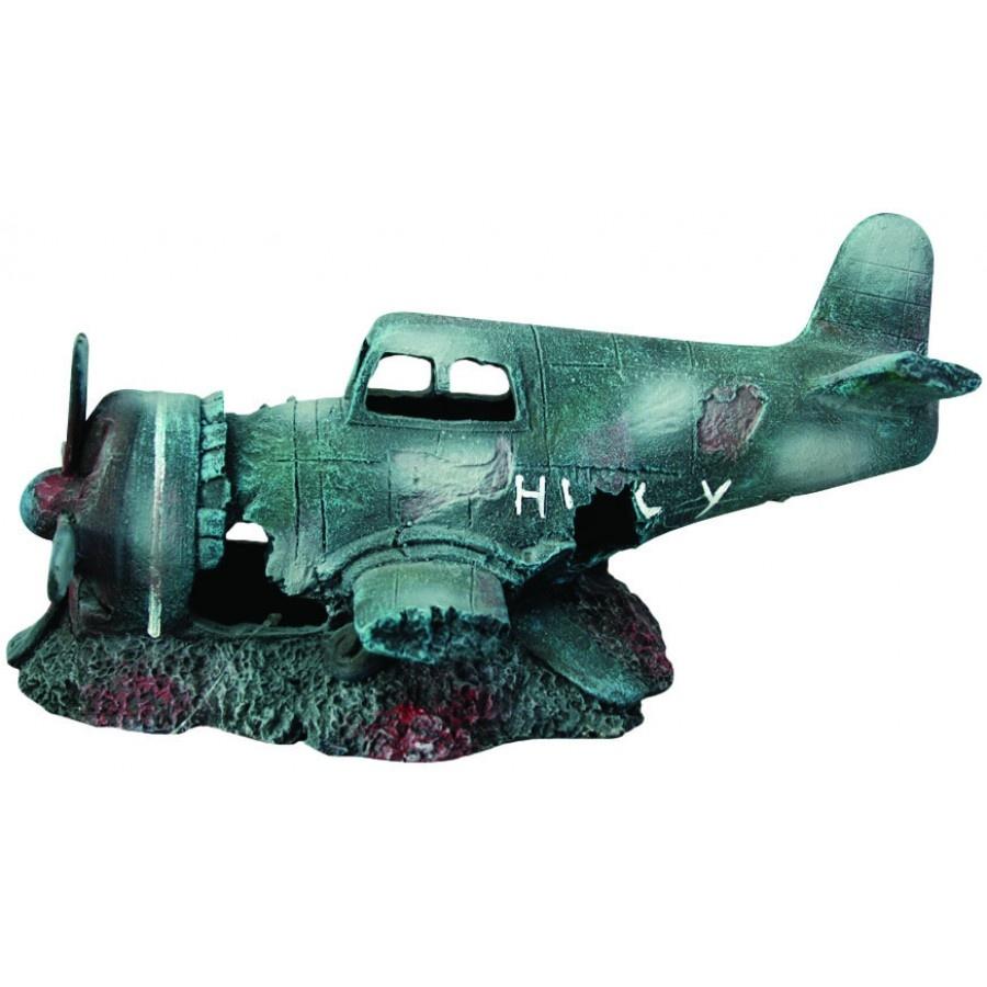 "Burgham Aqua-Fit Aqua-Fit Sunken Fighter Plane 12x6x6"""