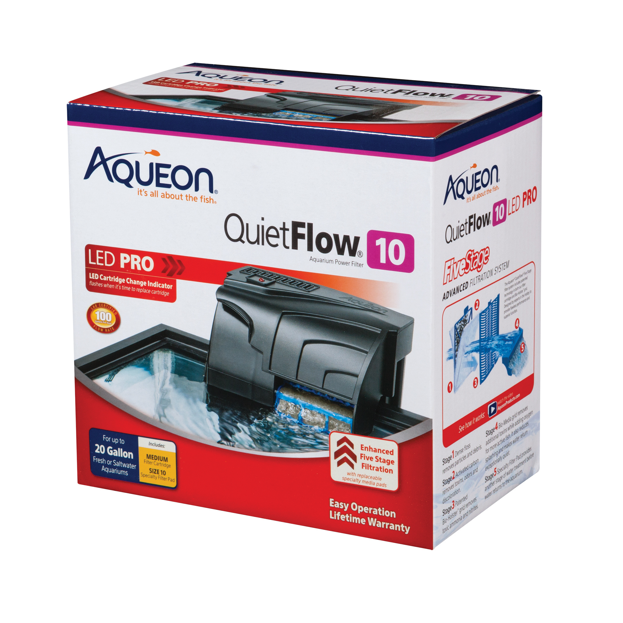 Aqueon Aqueon QuietFlow 10 Power Filter 20gal