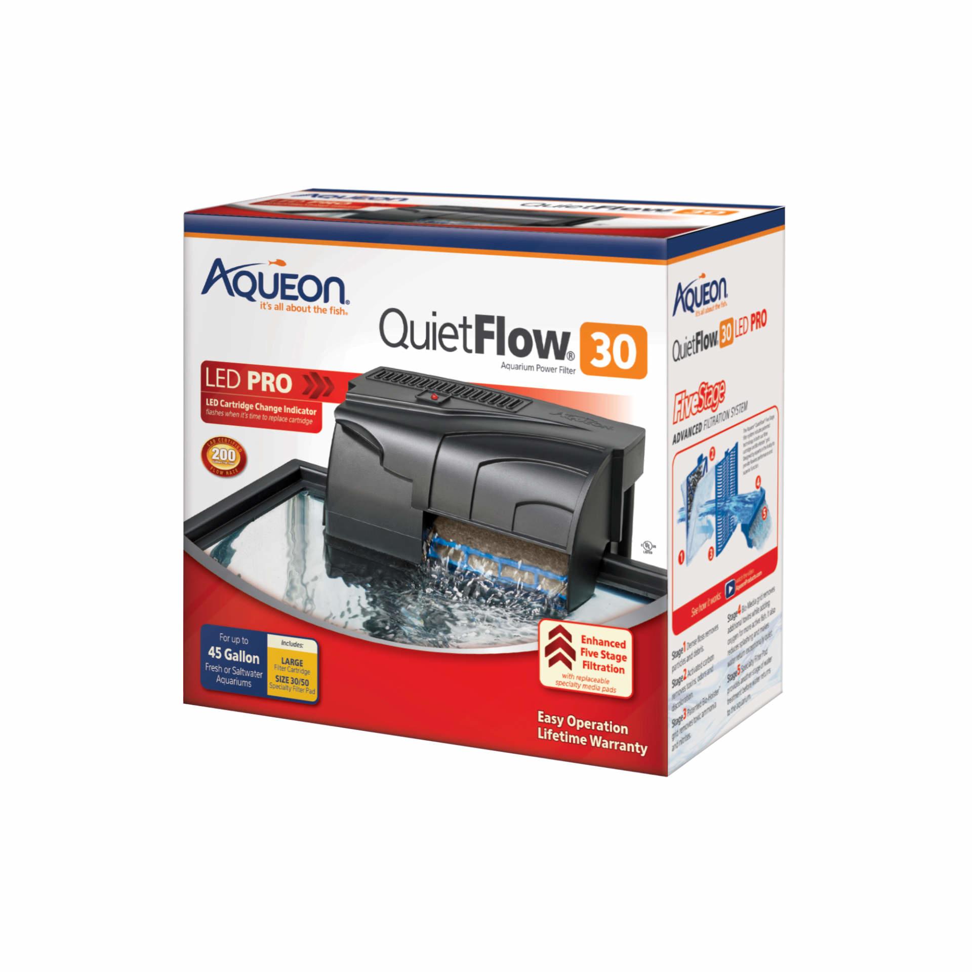 Aqueon Aqueon QuietFlow 30 Power Filter 45gal