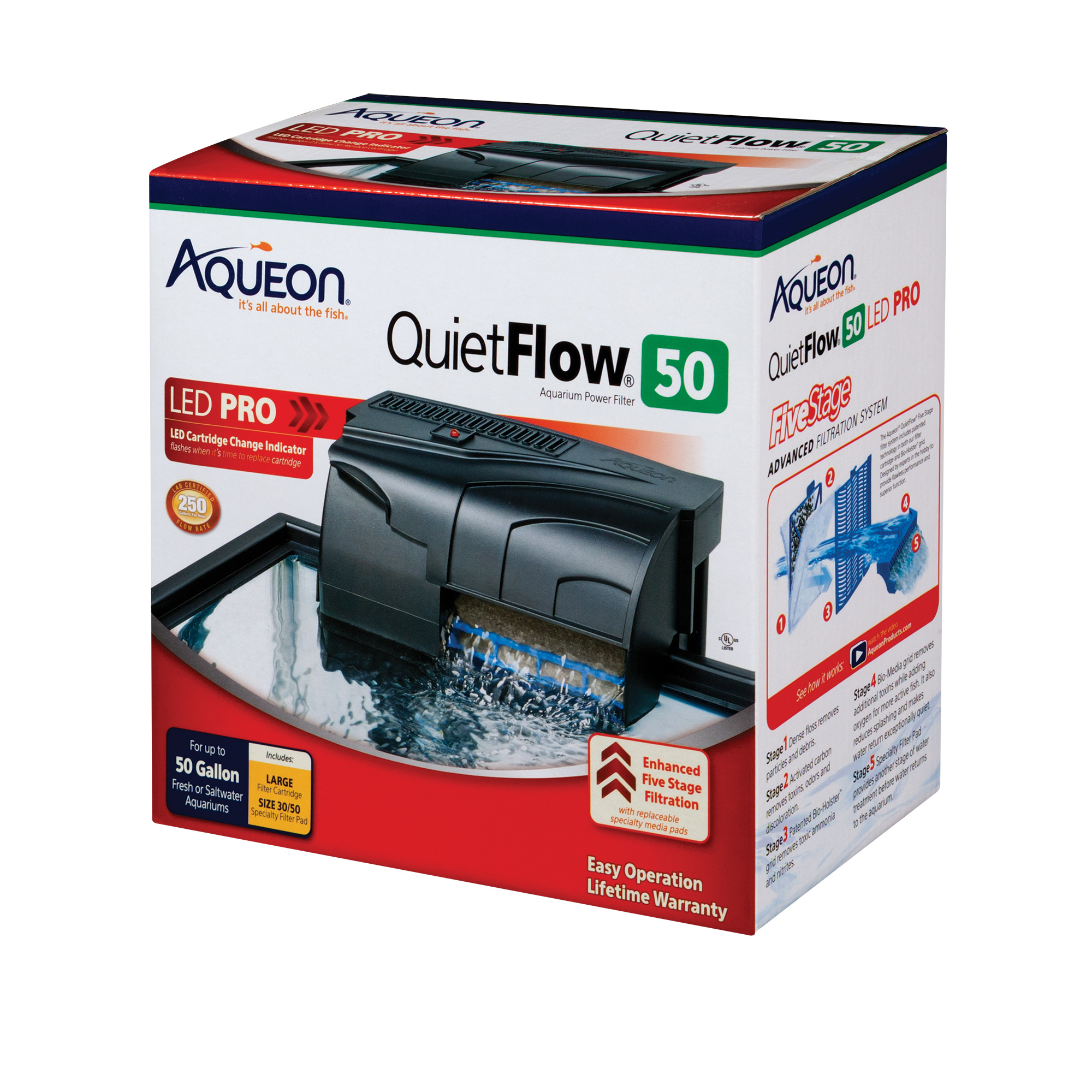 Aqueon Aqueon QuietFlow 50 Power Filter 50gal