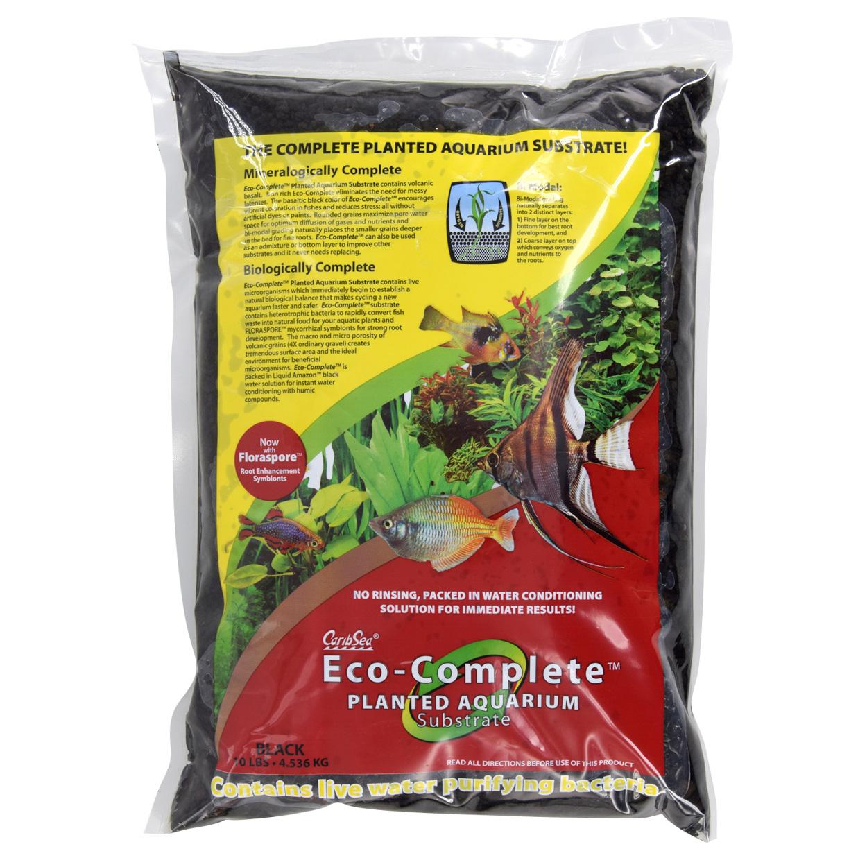 Cobalt Aquatics Carib Sea Eco-Complete Planted Aquarium Substrate Black 10 lb