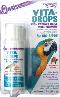 Oasis Products OASIS Big Bird Vita Drop Vitamins for Small Birds  2 oz