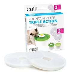 CatIt Catit Triple Action Fountain Filter - 2 Pack