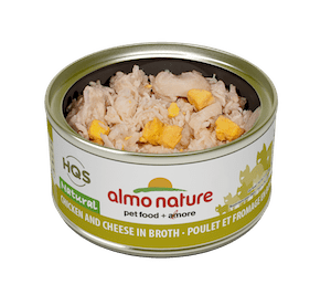 Almo Nature Almo Nature HSQ Natural Chicken & Cheese In Broth 70 g