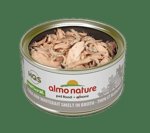 Almo Nature Almo Nature HQS Natural Tuna & White Bait In Broth 70 g