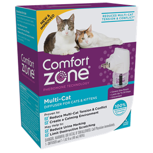 Comfort Zone Multi,Cat Diffuser For Cats \u0026 Kittens 48 mL