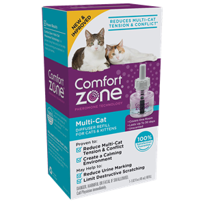 Comfort Zone Comfort Zone Multi-Cat Diffuser Refill For Cats & Kittens (1 Pack) 48 mL