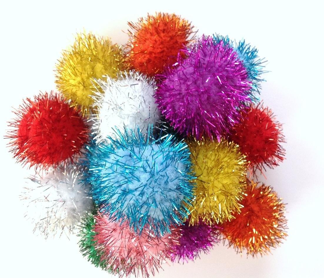 "Burgham Cat Toys Burgham Glitter Ball 1.5"""