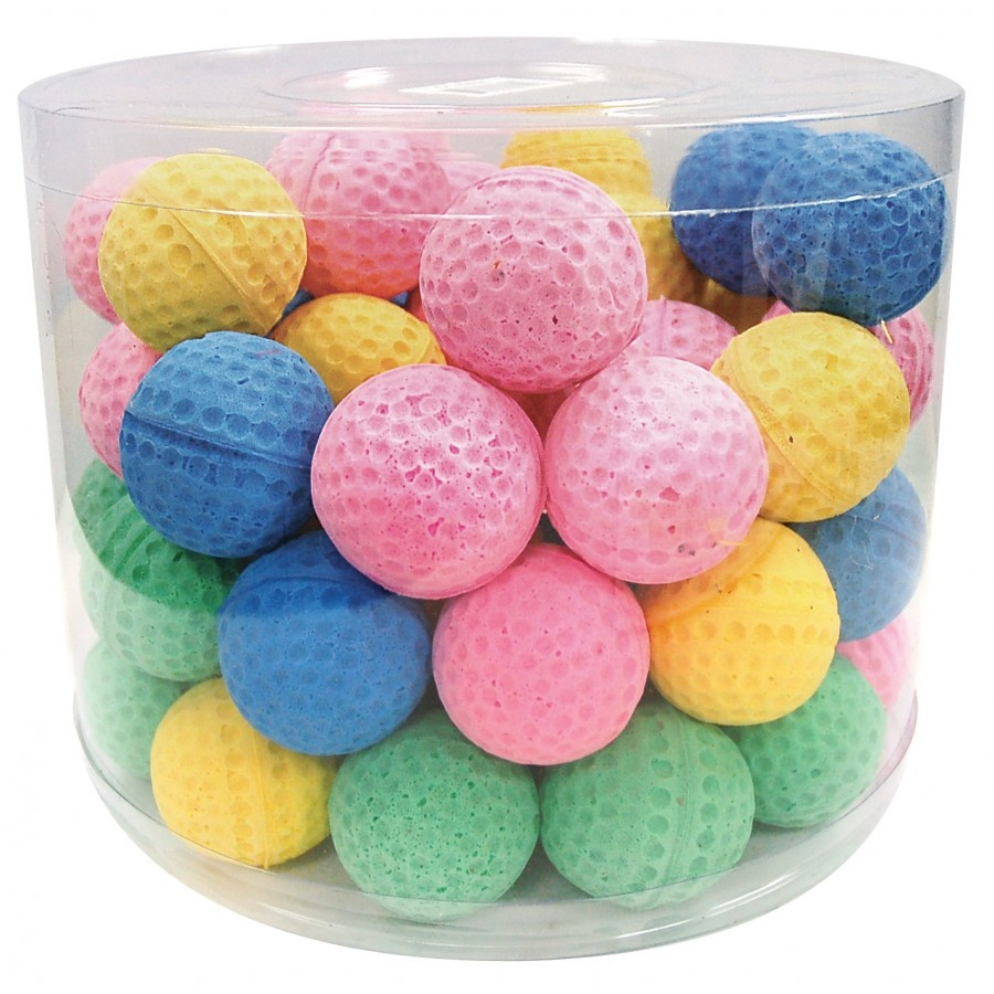 Burgham Cat Toys Burgham Sponge Ball Assorted Colours