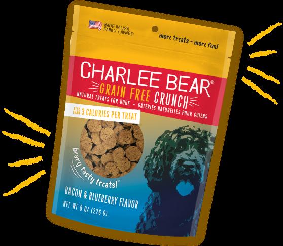 Charlee Bear Treats Charlee Bear Crunch Bacon & Blueberry 8 oz