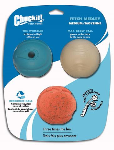 Chuckit! Chuck It! Variety Pack Fetch Balls Medium (3 Pack)