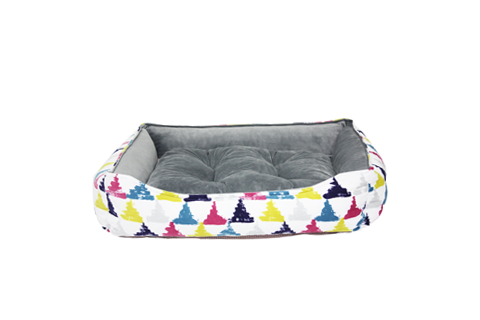 Be One Breed Be One Breed Cozy Bed Colourful Triangles