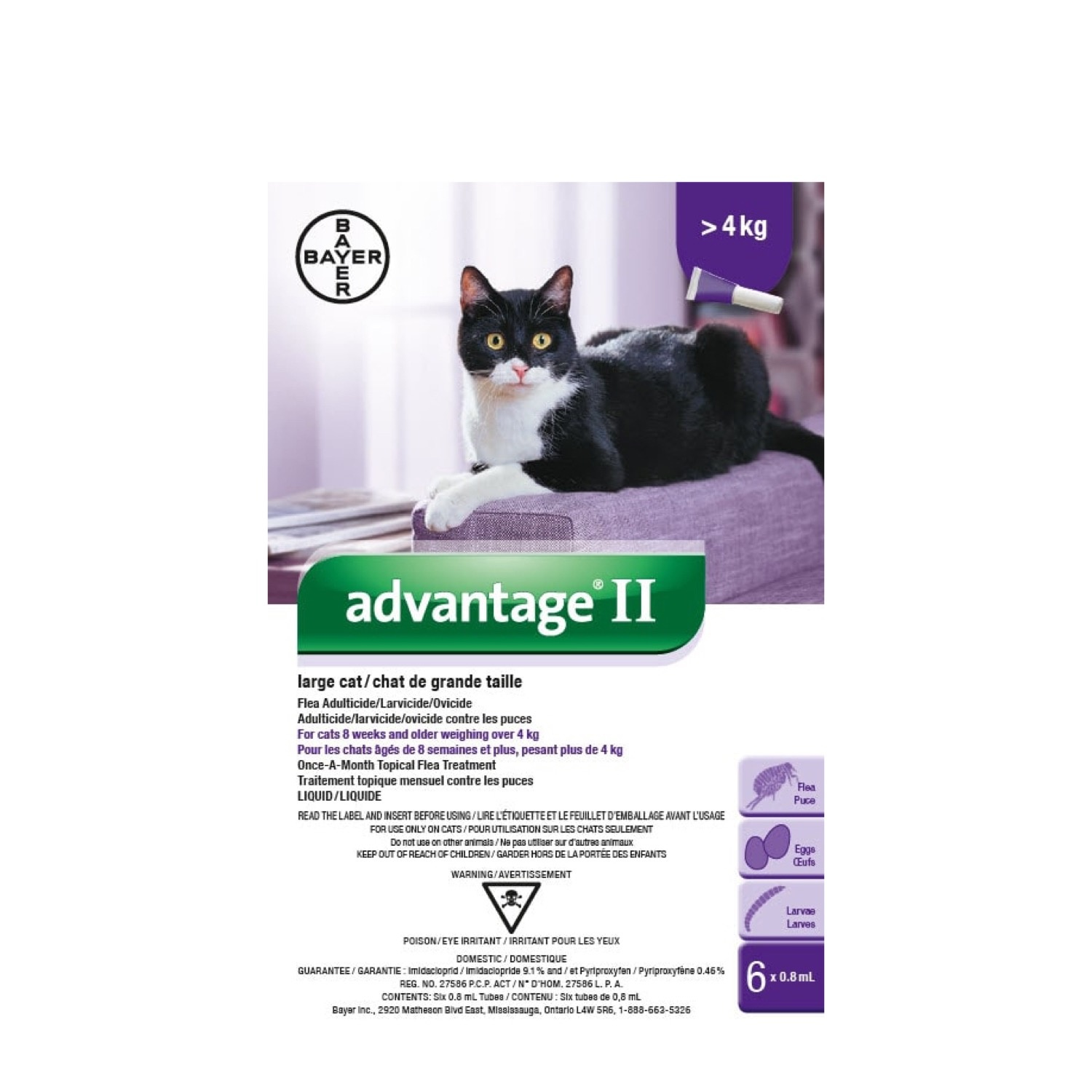 Bayer Bayer Advantage II Large Cat Over 4kg