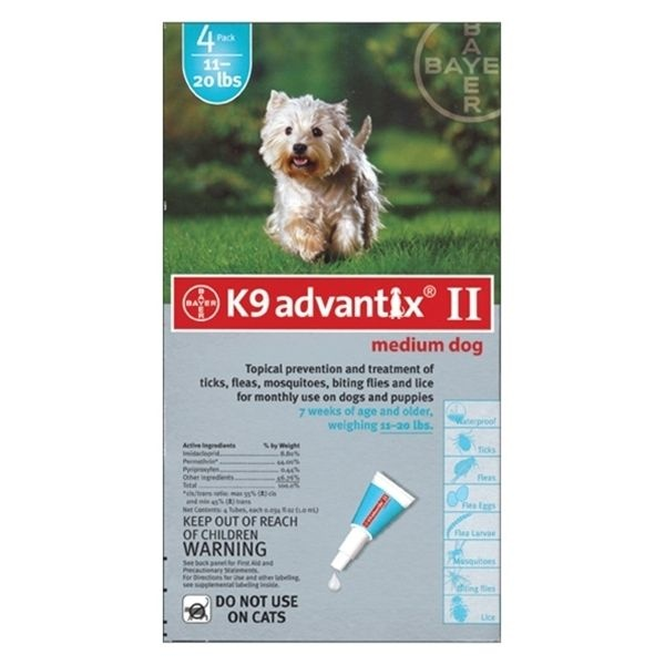 Bayer Bayer Advantix II Medium Dog 4.6kg-11kg