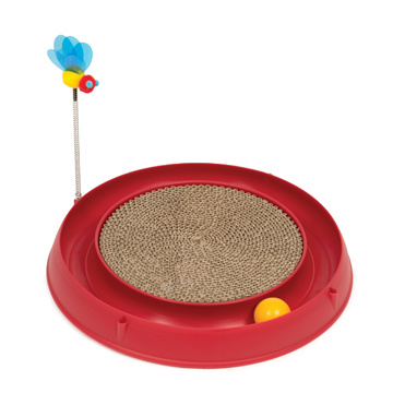 Cat It Cat It Circuit Ball Toy With Scratch Pad
