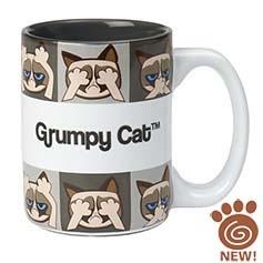 PetRageous Grumpy Cat Mug Grey