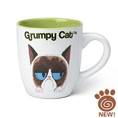 PetRageous PetRageouse Grumpy Cat Mug White/Green