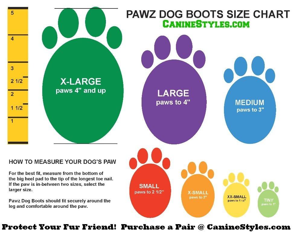 Pawz Products Pawz Boots  Blue Medium