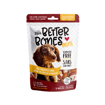 Zeus Zeus Better Bones Mini BBQ Chicken Flavor Chicken Wrapped 12pc.