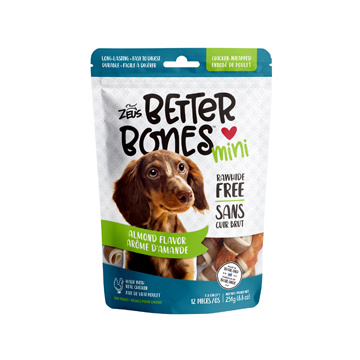 Zeus Zeus Better Bones Mini Almond Flavor Chicken Wrapped 12pc.