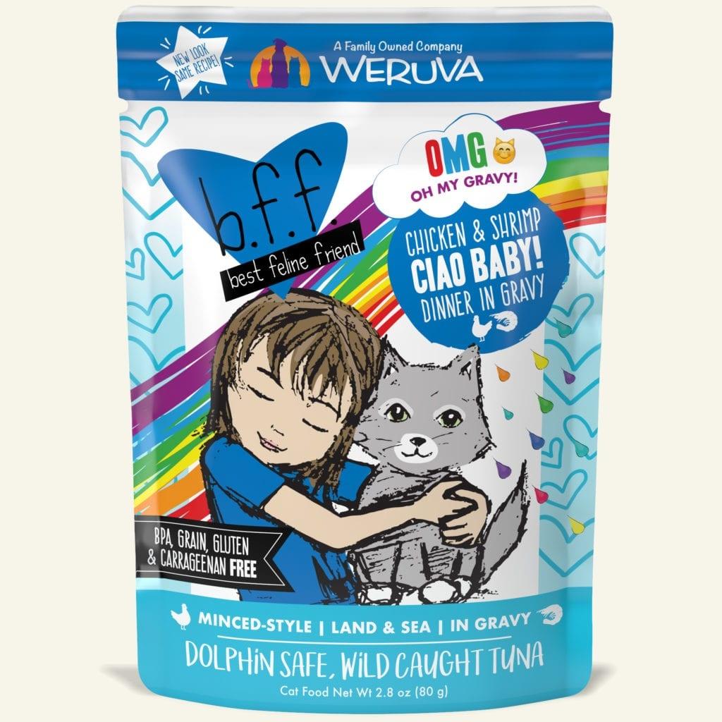 WeRuVa BFF OMG Chicken & Shrimp Ciao Baby  2.8 oz Pouch