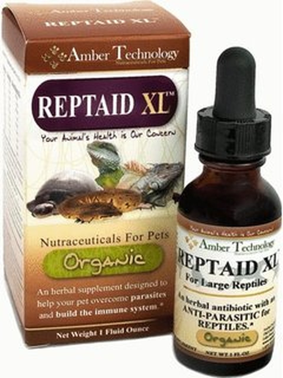 Amber Technology Reptaid XL Immune Support for Reptiles 1 oz