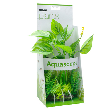 Fluval Fluval Decorative Plants, Marbled Anubias, 24cm (9.5in) with Base